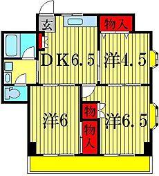ラヤマ細田[3階]の間取り