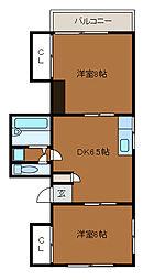 メゾンデアフリ[3階]の間取り