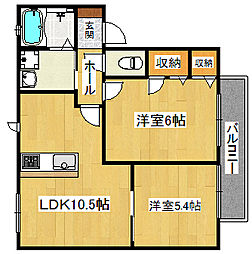 シャーメゾン川本[2階]の間取り