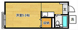 大久保パークハイツ[2階]の間取り
