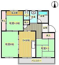 箕面粟生第2住宅 17号棟[5階]の間取り
