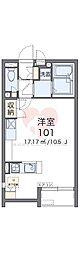レオネクストケイスピリット桜坂 1階1Kの間取り