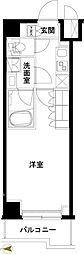 東武伊勢崎線 五反野駅 徒歩6分の賃貸マンション 5階1Kの間取り
