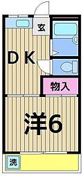 東京都足立区弘道1丁目の賃貸マンションの間取り
