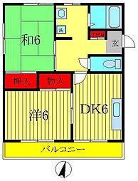 エスアイマンション[2階]の間取り