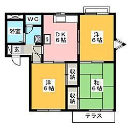 サンモール塚本C[2階]の間取り