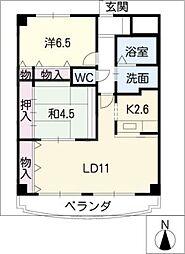 LX21[6階]の間取り