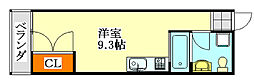 CASA OKUNISHI[8号室]の間取り