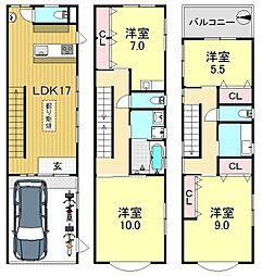 [一戸建] 大阪府大阪市平野区平野本町5丁目 の賃貸【/】の間取り