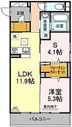 ルシエール 1階1SLDKの間取り