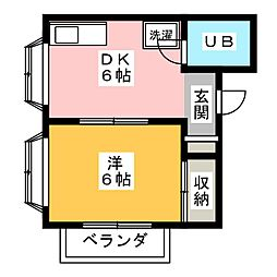 連子川ビル[3階]の間取り