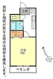 シャイン池島[105号室]の間取り