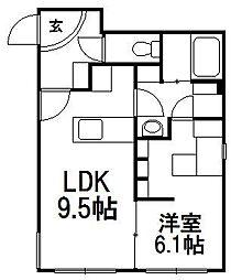 COMSAP24 PARKSIDE[1階]の間取り
