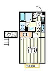 セジュールSA[2階]の間取り