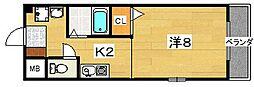 GRAND大垣内[4階]の間取り