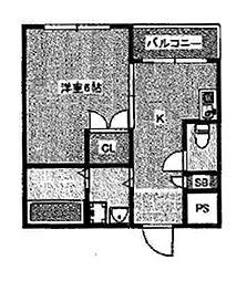 オーシャンズコート[2階]の間取り