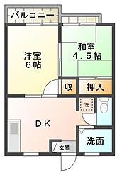 サニーグリーンウッドC棟[2階]の間取り