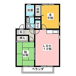 フォーラムIIIB棟[2階]の間取り