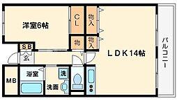 ラフィネ淀川[11階]の間取り
