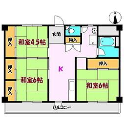 槻ノ木マンション[2階]の間取り