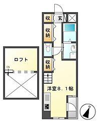 ワイズ東別院[4階]の間取り