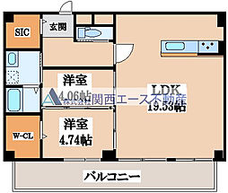 仮称)寺田町1丁目新築マンション[2階]の間取り