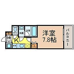 愛知県名古屋市中区栄4丁目の賃貸マンションの間取り