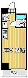 ロジマン武蔵小山[6階]の間取り