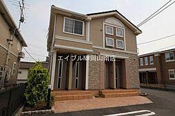 岡山県岡山市中区平井4の賃貸アパートの外観