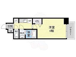 JR片町線(学研都市線) 鴫野駅 徒歩1分の賃貸マンション 6階1Kの間取り