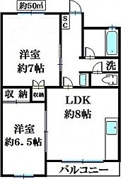 JAIRO薬円台[103号室号室]の間取り
