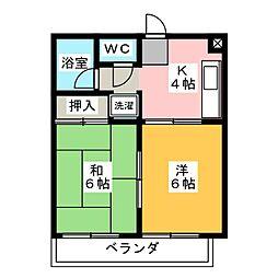 エポック有松[2階]の間取り