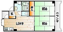 ムーブ奈須本[4階]の間取り
