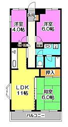 エスポワール所沢II[4階]の間取り