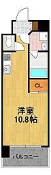 Osaka Metro四つ橋線 花園町駅 徒歩7分の賃貸マンション 8階ワンルームの間取り