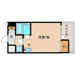 奈良県大和高田市北本町の賃貸マンションの間取り