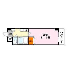 APEX FLAT R [6階]の間取り