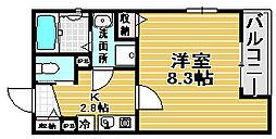 Kiyo maison 綾園[201号室]の間取り