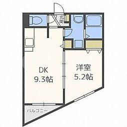 アジリア札幌宮の沢[4階]の間取り