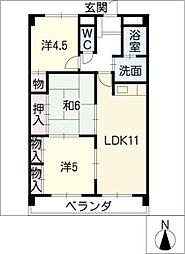 ピボットマンション池下[8階]の間取り
