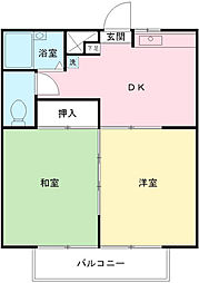 東京都八王子市堀之内2丁目の賃貸マンションの間取り