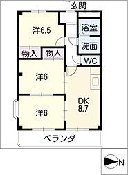 シャングリラ[3階]の間取り