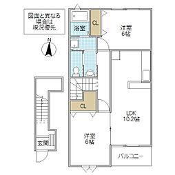 Palazzo・K A[202号室号室]の間取り