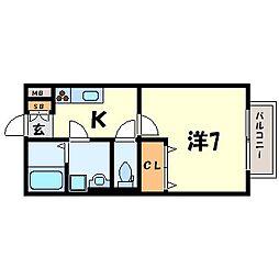 クレール[1階]の間取り