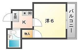 舞風恋人[3階]の間取り