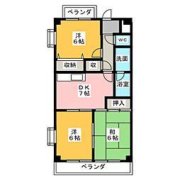 グレースメゾン名海3[4階]の間取り