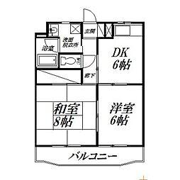 静岡県浜松市東区下石田町の賃貸マンションの間取り