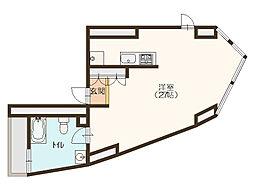 Alegria Residence Utsubo Park[3階]の間取り