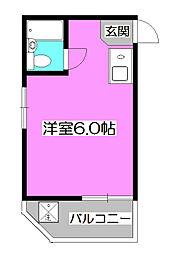 埼玉県所沢市元町の賃貸アパートの間取り