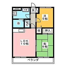 KSマンション富士見が丘[2階]の間取り